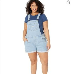NWT Levi's Short Overalls Light vintage wash 18W